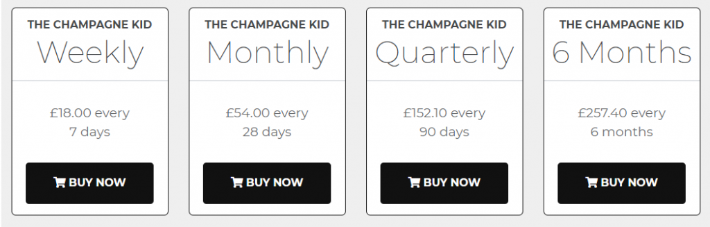 Champagne Kid Review Prices