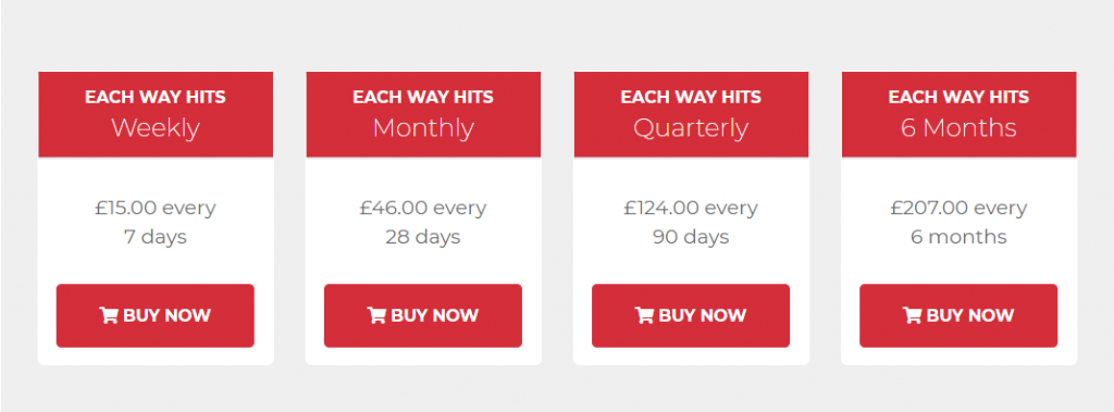 Each Way Hits Review Prices