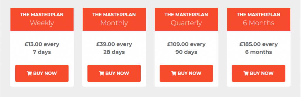 The MasterPlan Review Prices